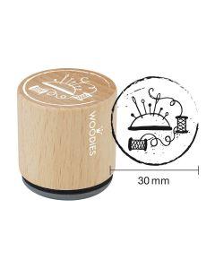 Woodies Rubber Stamp - Pincushion