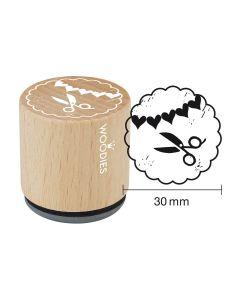 Woodies Rubber Stamp - Woodies stamp scissors