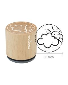 Woodies Rubber Stamp - Cloudy