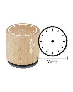Woodies Rubber Stamp - Clock