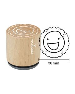 Woodies Rubber Stamp - Smiley good