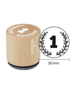 Woodies Rubber Stamp - Number 1