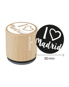 Sello Woodies - Madrid - I LOVE Madrid (Corazón)