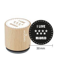 Sello Woodies - Madrid - I love Madrid (Estrellas)