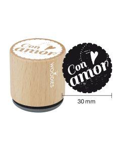 Sello Woodies - con amor