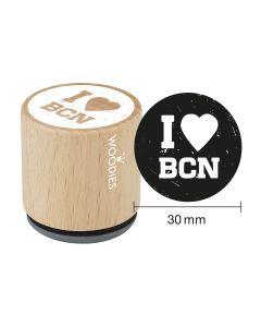Sello Woodies - Barcelona - I love BCN