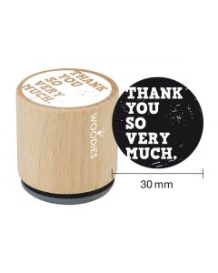 Woodies Rubber Stamp - Thank you so very much