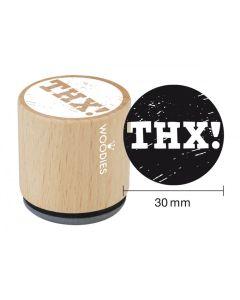 Woodies Rubber Stamp - THX!