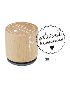 Woodies Rubber Stamp - Merci beaucoup