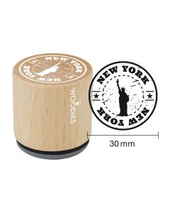 Woodies Rubber Stamp - New York - New York ... Statue of liberty