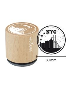 Woodies Rubber Stamp - New York - NYC skyline