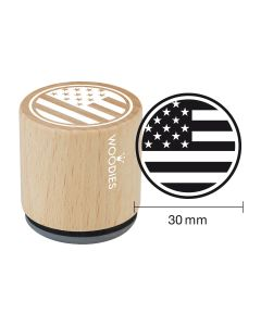 Woodies Rubber Stamp - New York - Stars and stripes