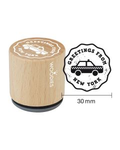 Woodies Rubber Stamp - New York - Greetings from New York