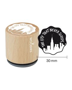 Woodies Rubber Stamp - New York - The city that never sleeps