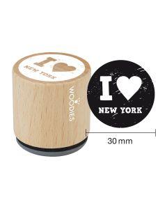 Woodies Rubber Stamp - New York - I love New York