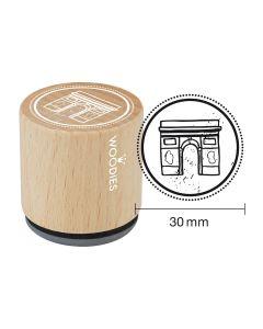 Woodies Rubber Stamp - Paris - Arc de Triomphe