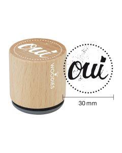 Woodies Rubber Stamp - Paris - oui