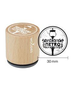 Woodies Rubber Stamp - Paris - Metro
