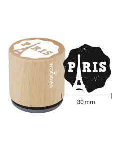 Woodies Rubber Stamp - Paris - Paris tour Eiffel