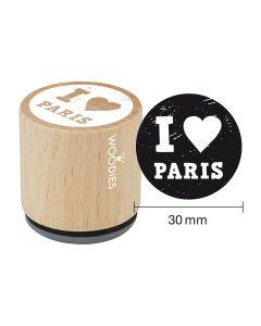 Woodies Rubber Stamp - Paris - I love Paris