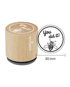 Woodies Rubber Stamp - You Did It!