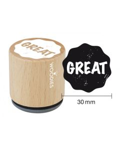 Woodies Rubber Stamp - Great