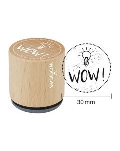 Woodies Rubber Stamp - WOW