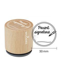 Woodies Rubber Stamp - Parent Signature