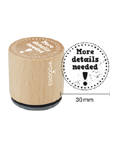 Woodies Rubber Stamp - More Details Needed