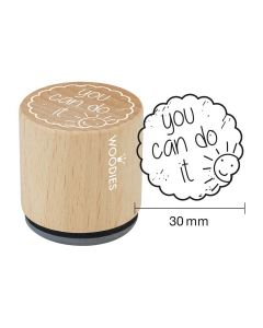 Woodies Rubber Stamp - you can do it