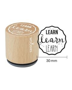 Woodies Rubber Stamp - LEARN learn LEARN