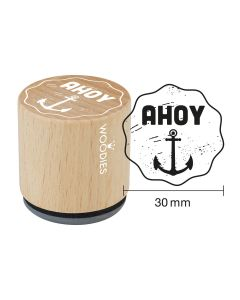 Woodies Rubber Stamp - AHOY