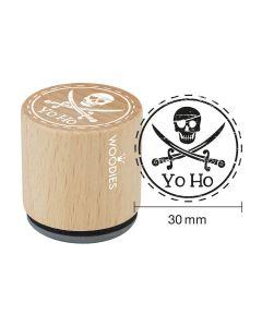 EN-Woodies Rubber Stamp - Yo Ho - DE-Woodies Motivstempel Yo Ho - FR-Yo Ho