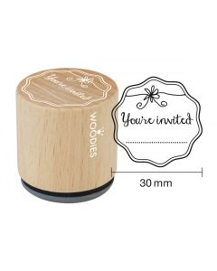 Woodies Rubber Stamp - You're Invited