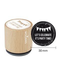Woodies Rubber Stamp - Let's Celebrate It's Party Time