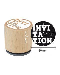 Woodies Rubber Stamp - Invitation