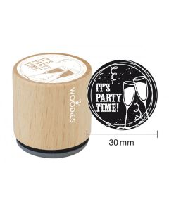 Woodies Rubber Stamp - It's Party Time