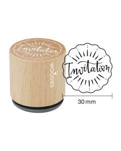 EN-Woodies Rubber Stamp - Invitation - FR-Invitation