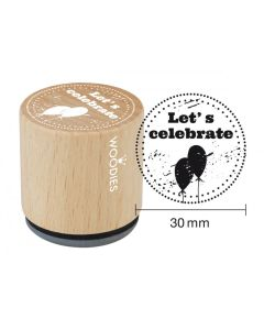 Woodies Rubber Stamp - Let's Celebrate