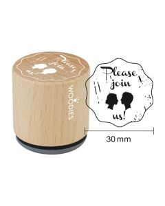 Woodies Rubber Stamp - Please join us