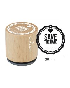 Woodies Rubber Stamp - Save the Date