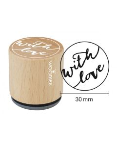 Woodies Rubber Stamp - With Love
