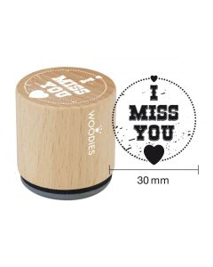 Woodies Rubber Stamp - I Miss You