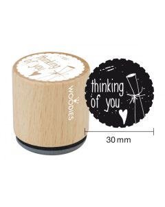 Woodies Rubber Stamp - Thinking of You