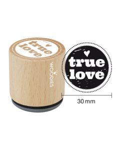Woodies Rubber Stamp - True Love
