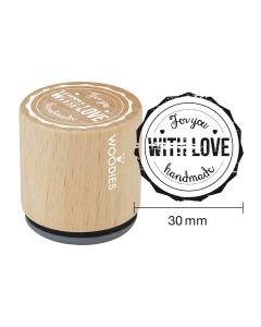 Woodies Rubber Stamp - For you WITH LOVE handmade