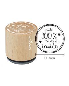 Woodies Rubber Stamp - 100% handmade inside