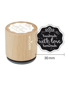 Woodies Rubber Stamp - handmade with love homemade