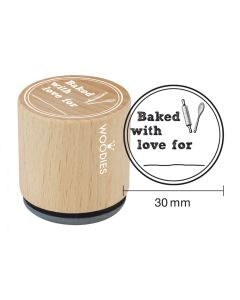 Woodies Rubber Stamp - Baked with love for...