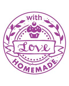 Woodies Rubber Stamp - HOMEMADE with love